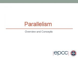 Parallelism Overview and Concepts Outline Decomposition Geometric decomposition