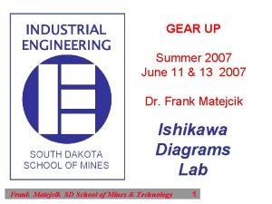 GEAR UP Summer 2007 June 11 13 2007