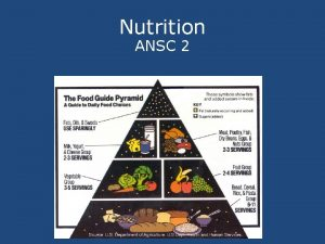 Nutrition ANSC 2 Know Understand Do Know Basic