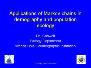 Applications of Markov chains in demography and population