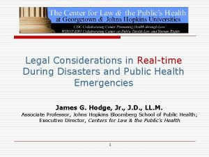 Legal Considerations in Realtime During Disasters and Public