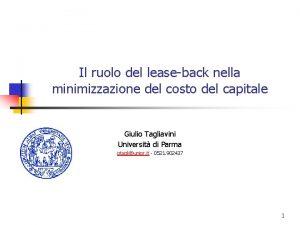 Il ruolo del leaseback nella minimizzazione del costo