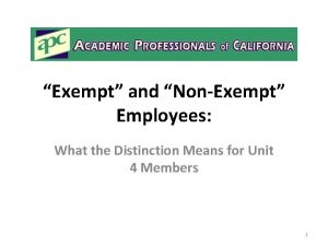 Exempt and NonExempt Employees What the Distinction Means