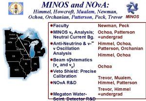MINOS and NOv A Himmel Howcroft Mualem Newman