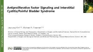 International Neurourology Journal 2011 15 184 191 Antiproliferative