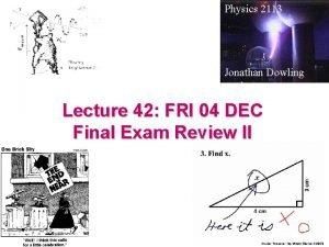 Physics 2113 Jonathan Dowling Lecture 42 FRI 04