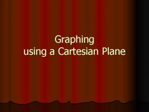 Graphing using a Cartesian Plane Vocabulary Cartesian Plane
