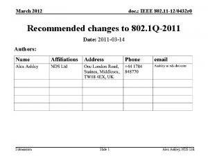 March 2012 doc IEEE 802 11 120432 r