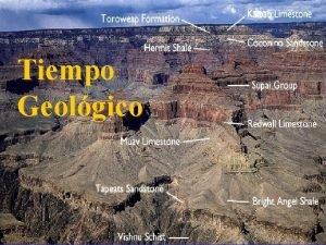 Tiempo Geolgico Tiempo Geolgico La cristalizacin el metamorfismo