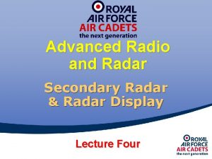 Advanced Radio and Radar Secondary Radar Radar Display