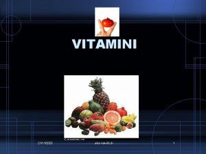 VITAMINI 21112020 alen vukeli dr 1 Vitamini koje