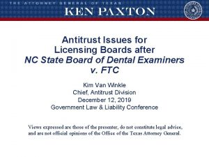 Antitrust Issues for Licensing Boards after NC State