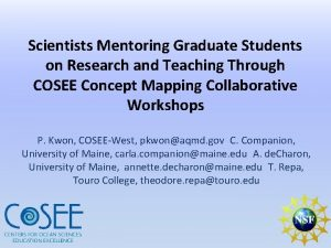 Scientists Mentoring Graduate Students on Research and Teaching
