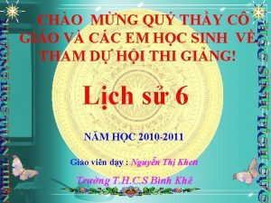CHO MNG QU THY C GIO V CC