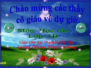 sinh Gio vin dy Nguyn Th Thu Trng
