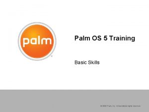 Palm OS 5 Training Basic Skills 2006 Palm