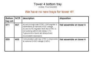 Tower 4 bottom tray A Brez Pisa 1342005