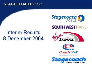 Interim Results 8 December 2004 Interim Results 2004