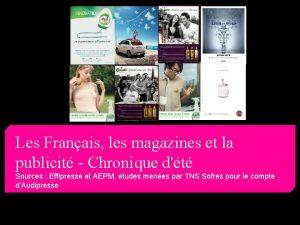 Les Franais les magazines et la publicit Chronique