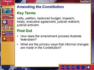 Amending the Constitution Key Terms ratify petition balanced