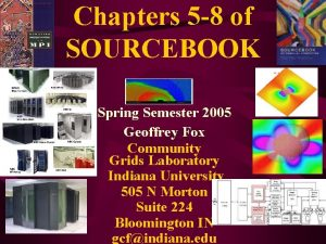 Chapters 5 8 of SOURCEBOOK Spring Semester 2005