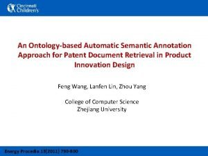 An Ontologybased Automatic Semantic Annotation Approach for Patent