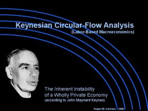 Keynesian CircularFlow Analysis LaborBased Macroeconomics The Inherent Instability