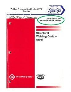 Welding Procedure Specification WPS Training Welding Procedure Specification