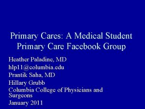 Primary Cares A Medical Student Primary Care Facebook