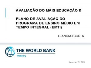 AVALIAO DO MAIS EDUCAO PLANO DE AVALIAO DO