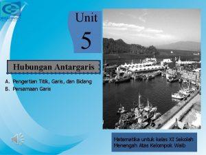 Unit 5 Hubungan Antargaris A Pengertian Titik Garis