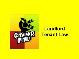 Landlord Tenant Law Importance of Landlord Tenant Law