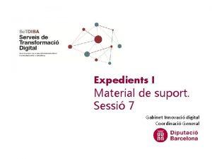 Expedients I Material de suport Sessi 7 Gabinet
