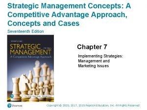 Strategic Management Concepts A Competitive Advantage Approach Concepts