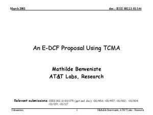 March 2001 doc IEEE 802 11 01144 An