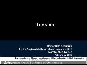 Tensin Hctor Soto Rodrguez Centro Regional de Desarrollo
