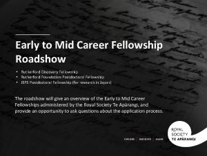 Early to Mid Career Fellowship Roadshow Rutherford Discovery