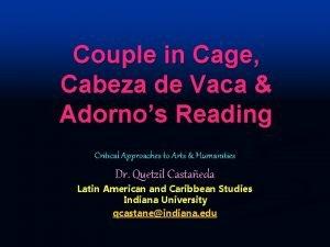 Couple in Cage Cabeza de Vaca Adornos Reading