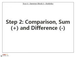 Year 4 Summer Block 4 Statistics Step 2