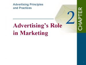 Advertising Principles and Practices Advertisings Role in Marketing