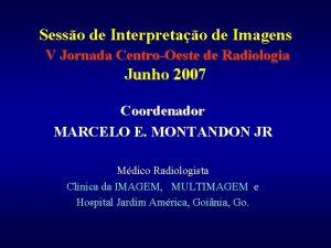 Sesso de Interpretao de Imagens V Jornada CentroOeste
