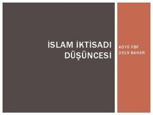 SLAM KTSADI DNCES ADY BF 2019 BAHAR SLAM