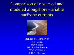 Comparison of observed and modeled alongshorevariable surfzone currents