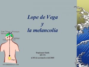 Lope de Vega y la melancola Stephanie Salek