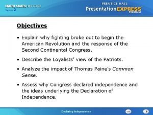 Chapter Section 2 25 Section 1 Objectives Explain