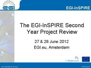EGIIn SPIRE The EGIIn SPIRE Second Year Project