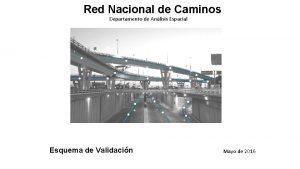 Red Nacional de Caminos Departamento de Anlisis Espacial