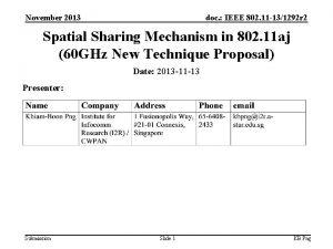 November 2013 doc IEEE 802 11 131292 r