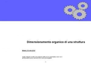 Dimensionamento organico di una struttura Milano XX mm