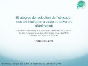 Stratgies de rduction de lutilisation des antibiotiques vise